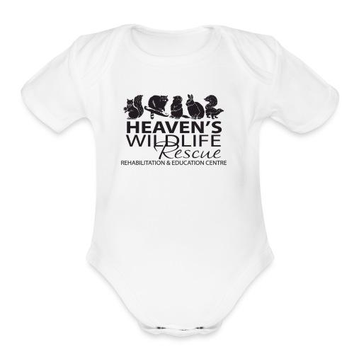 Heaven's Wildlife Rescue - Organic Short Sleeve Baby Bodysuit