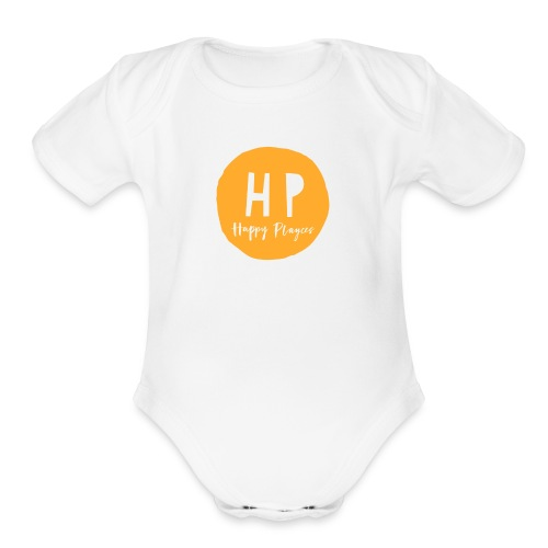 Happy Playces Logo - Organic Short Sleeve Baby Bodysuit
