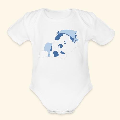 baby cow - Organic Short Sleeve Baby Bodysuit