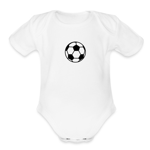custom soccer ball team - Organic Short Sleeve Baby Bodysuit