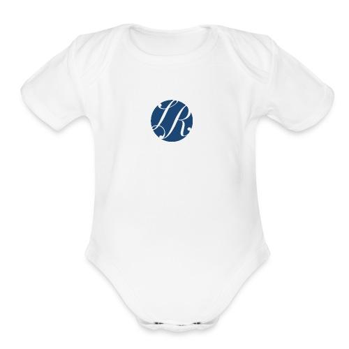 La Rosa Realty Simple Blue Logo - Organic Short Sleeve Baby Bodysuit