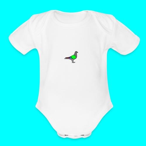 Pigeon - Organic Short Sleeve Baby Bodysuit
