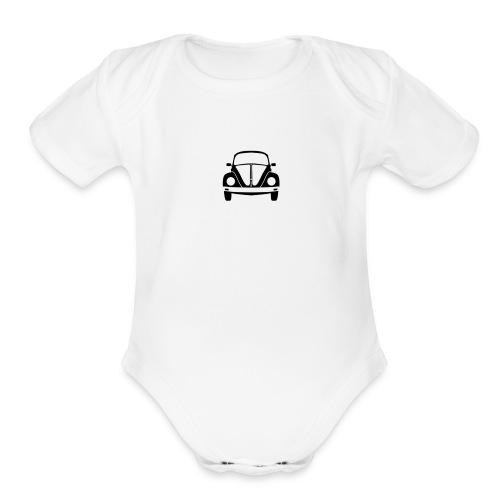 vw-beetle-icon-1573-01 - Organic Short Sleeve Baby Bodysuit
