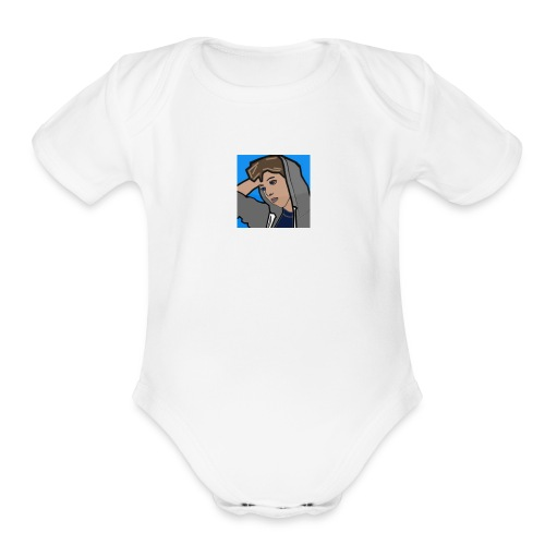 cool_dude - Organic Short Sleeve Baby Bodysuit