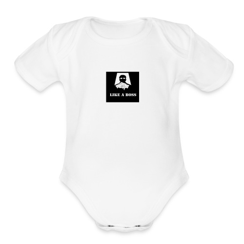 th_-4- - Organic Short Sleeve Baby Bodysuit