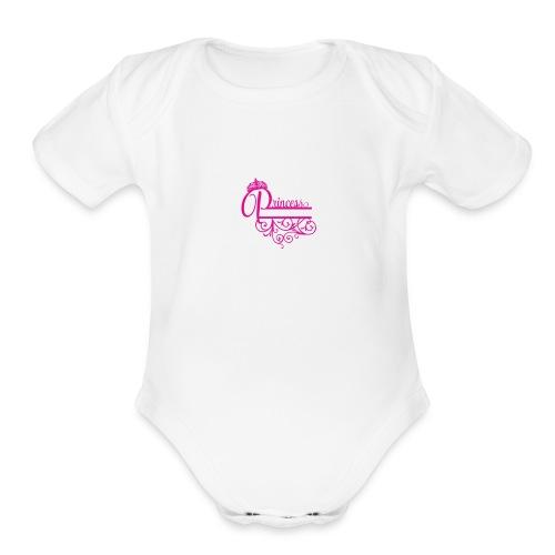 princess - Organic Short Sleeve Baby Bodysuit