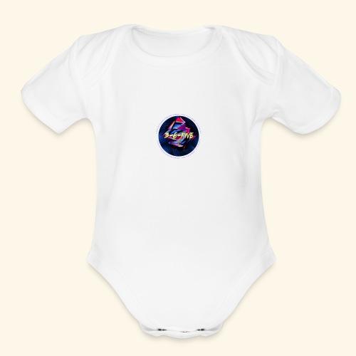 3-6-FIVE Logo - Organic Short Sleeve Baby Bodysuit