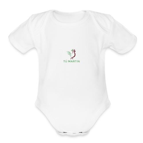 Logo Trại gà Tú Martin - Organic Short Sleeve Baby Bodysuit
