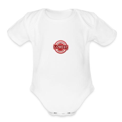 lowest price guarantee - Organic Short Sleeve Baby Bodysuit