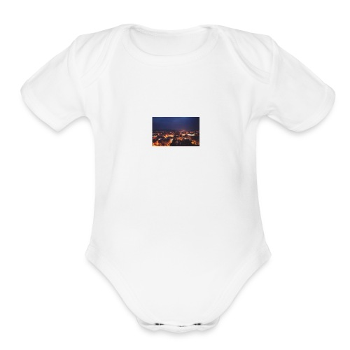 300px-Downtown_Binghamton_at_Night - Organic Short Sleeve Baby Bodysuit