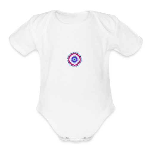 Lotus Flower - Organic Short Sleeve Baby Bodysuit