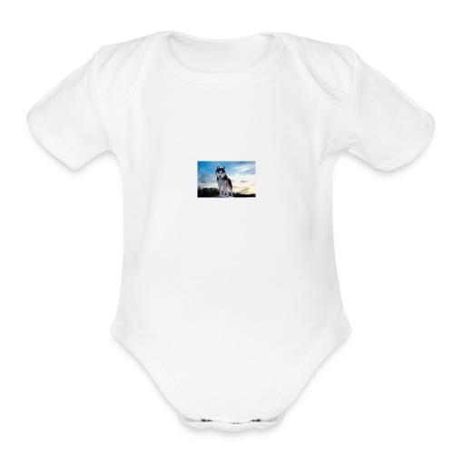 husky - Organic Short Sleeve Baby Bodysuit