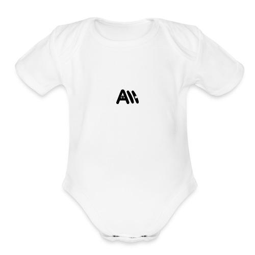 Artist Monster Logo - Organic Short Sleeve Baby Bodysuit