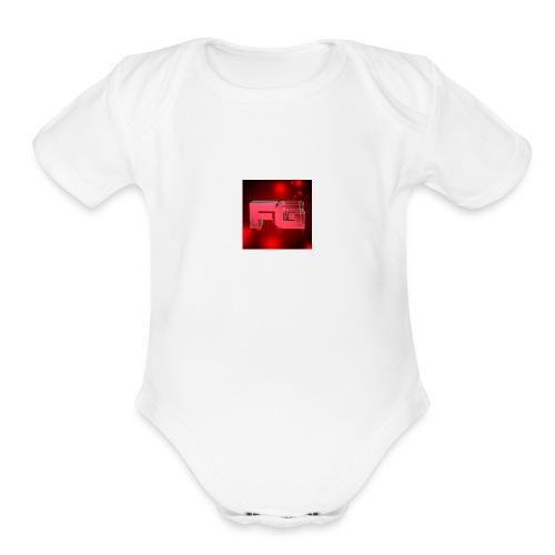 flare gaming logo by bryannaftw d3c2n9f - Organic Short Sleeve Baby Bodysuit