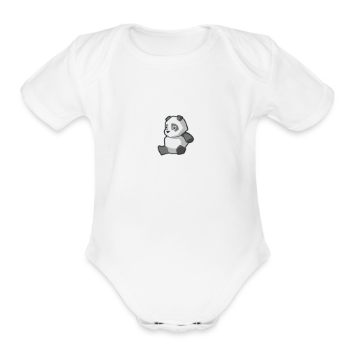 Pandazzz - Organic Short Sleeve Baby Bodysuit