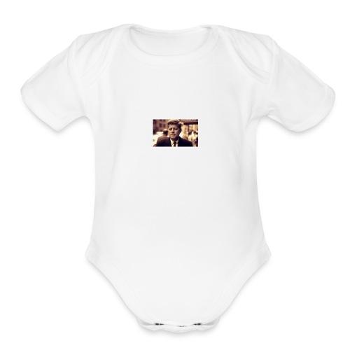 john - Organic Short Sleeve Baby Bodysuit