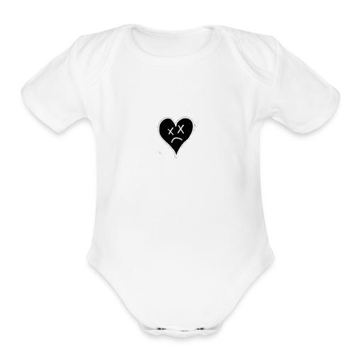 fake luv - Organic Short Sleeve Baby Bodysuit