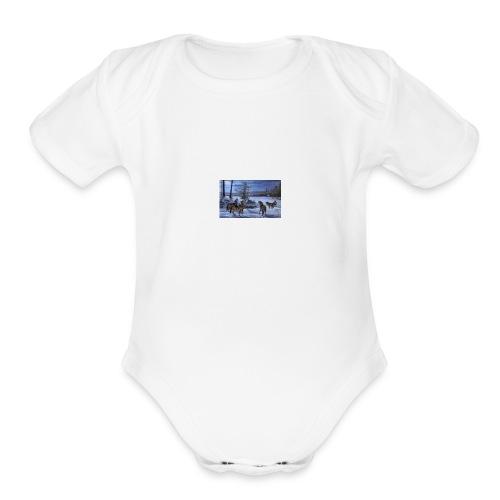 wolves - Organic Short Sleeve Baby Bodysuit
