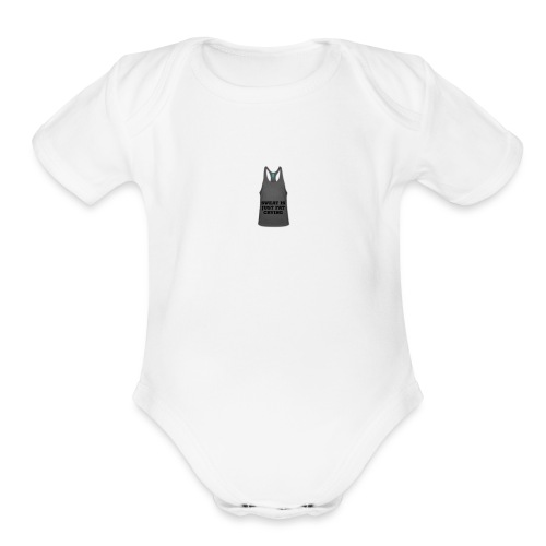 Sweat is just fat crying - Organic Short Sleeve Baby Bodysuit