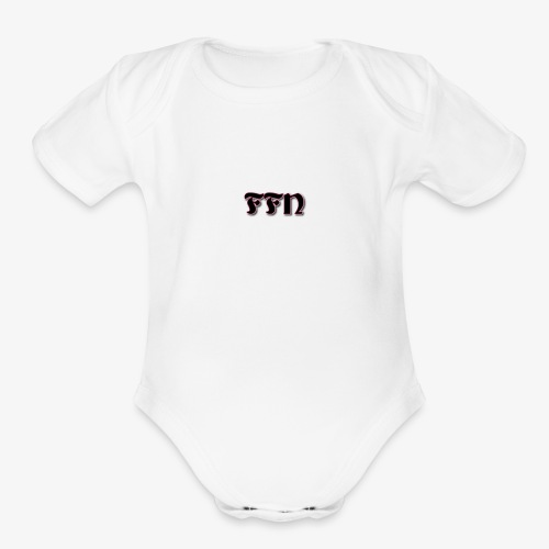 Fat Fly Nation Logo - Organic Short Sleeve Baby Bodysuit