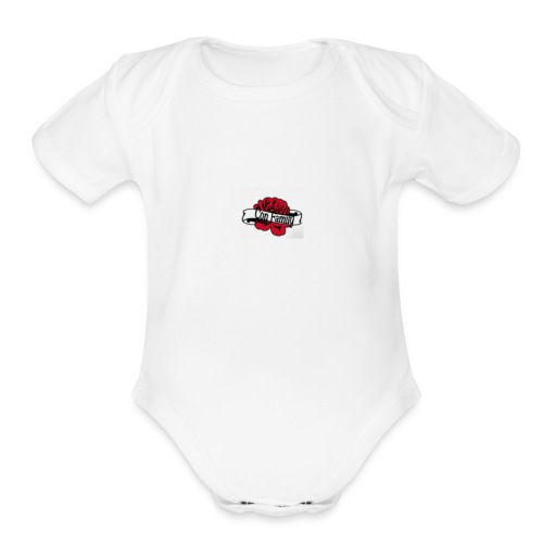 Con family rose - Organic Short Sleeve Baby Bodysuit