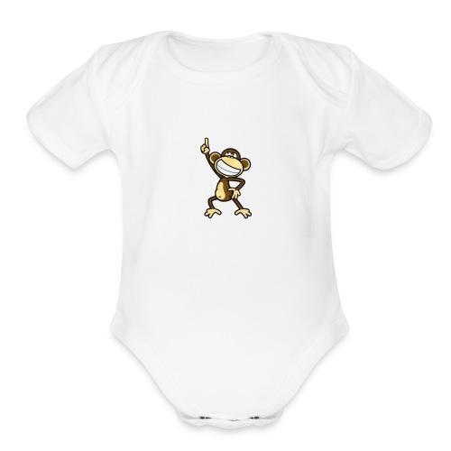 Funky monkey - Organic Short Sleeve Baby Bodysuit