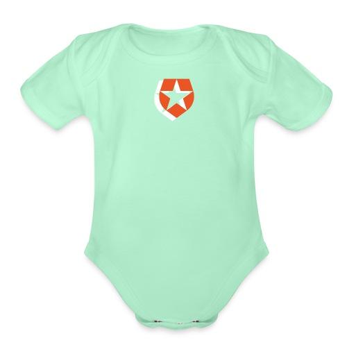 Badge - Organic Short Sleeve Baby Bodysuit