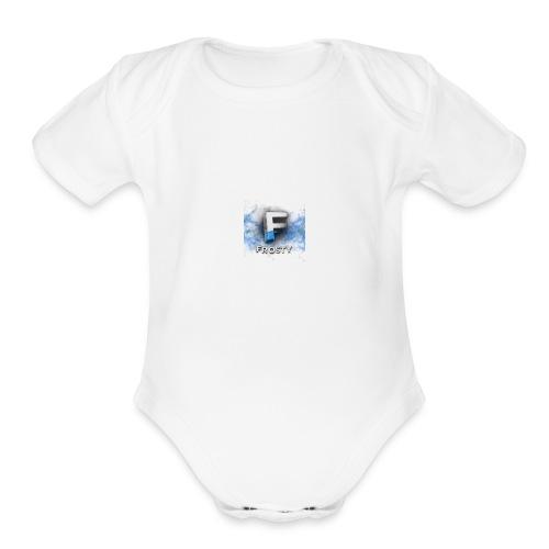 Frosty Logo - Organic Short Sleeve Baby Bodysuit