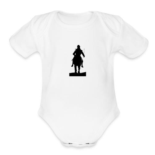 sikh warr - Organic Short Sleeve Baby Bodysuit