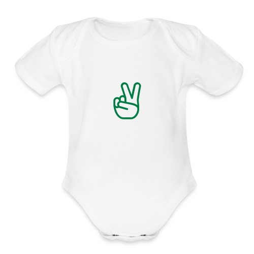 HASTY VICTORY - Organic Short Sleeve Baby Bodysuit
