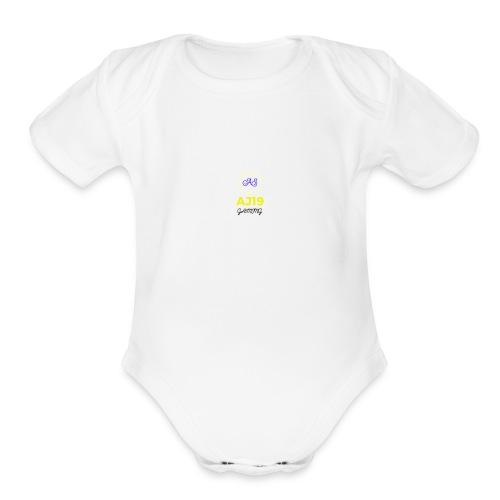 2nd version of logo - Organic Short Sleeve Baby Bodysuit