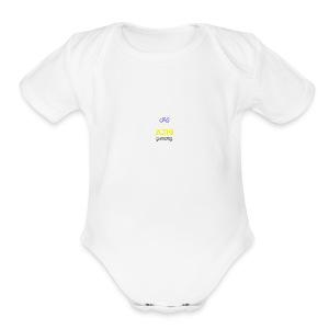 2nd version of logo - Short Sleeve Baby Bodysuit