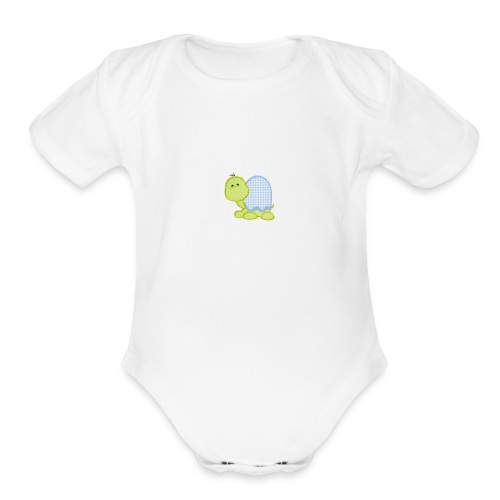 Baby turtles - Organic Short Sleeve Baby Bodysuit
