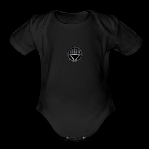 Knight654 Logo - Organic Short Sleeve Baby Bodysuit