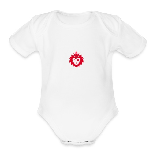 E JUST LION - Organic Short Sleeve Baby Bodysuit