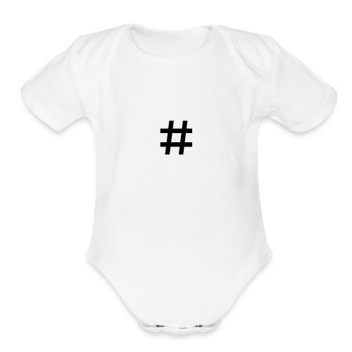 Hashtag Merch - Organic Short Sleeve Baby Bodysuit