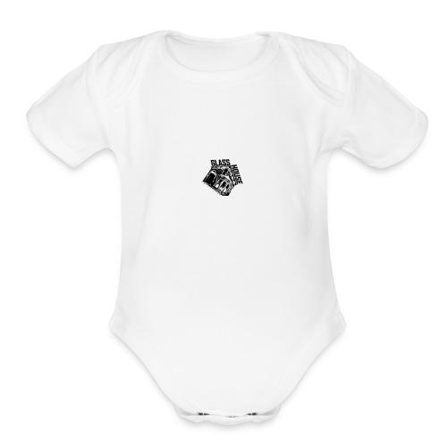 glass house logo - Organic Short Sleeve Baby Bodysuit
