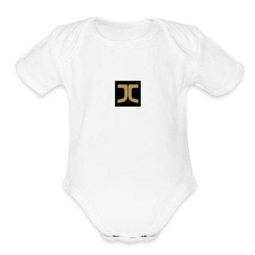 Gold jc - Organic Short Sleeve Baby Bodysuit