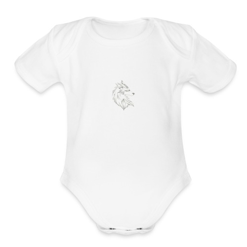 Artic wolf - Organic Short Sleeve Baby Bodysuit