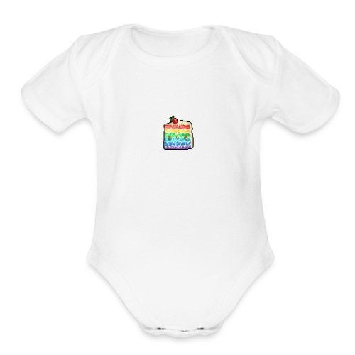 cakerain - Organic Short Sleeve Baby Bodysuit