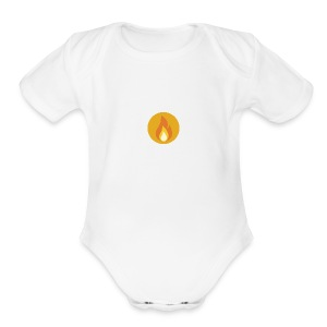 Flame (For cases and Cups) - Short Sleeve Baby Bodysuit