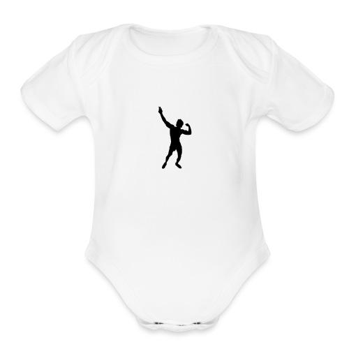 Zyzz Silhouette vector - Organic Short Sleeve Baby Bodysuit