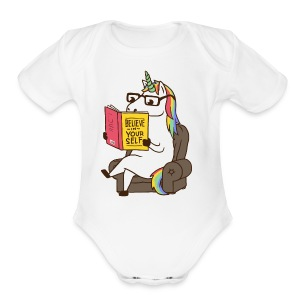 Unicorn - Short Sleeve Baby Bodysuit
