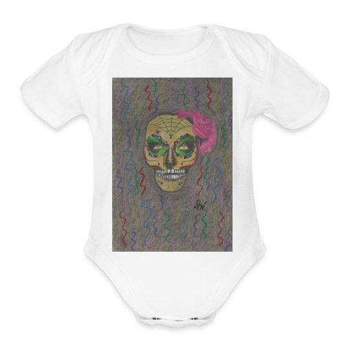 Dia De Muertos - Organic Short Sleeve Baby Bodysuit