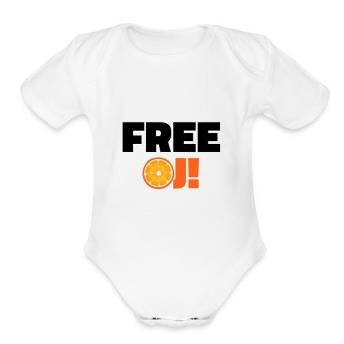 Free O.J. Simpson - Organic Short Sleeve Baby Bodysuit