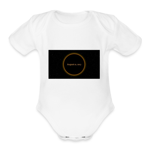 Solar Eclipse - Organic Short Sleeve Baby Bodysuit