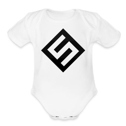Skyrowz Logo - Organic Short Sleeve Baby Bodysuit