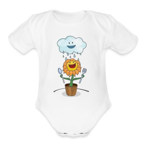 Cloud & Flower - Best friends forever - Organic Short Sleeve Baby Bodysuit