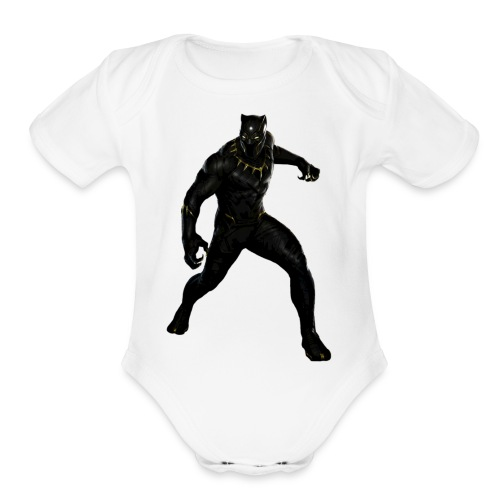 BLACK PANTHER - Organic Short Sleeve Baby Bodysuit