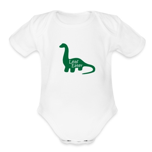 Leaf Eater - Organic Short Sleeve Baby Bodysuit